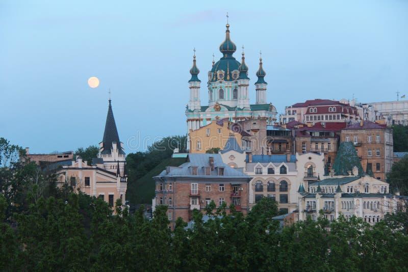 Ουκρανία ST Andrew& x27 εκκλησία του s Πόλη του Κίεβου Περιοχή Podil στοκ εικόνες με δικαίωμα ελεύθερης χρήσης