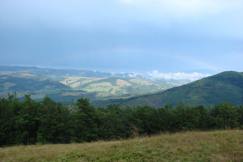 Ουκρανικά Carpathians Η σειρά βουνών Borzhava στοκ εικόνες