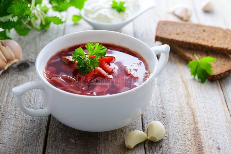 Ουκρανική σούπα λάχανων και παντζαριών - borshch στοκ φωτογραφίες με δικαίωμα ελεύθερης χρήσης