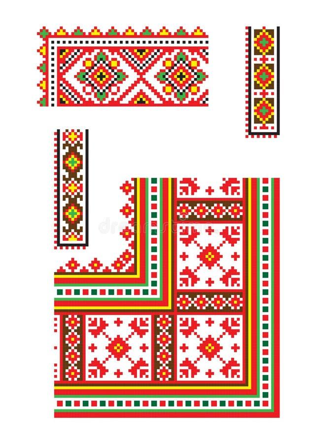 Ουκρανικό διανυσματικό μέρος 6 διακοσμήσεων διανυσματική απεικόνιση