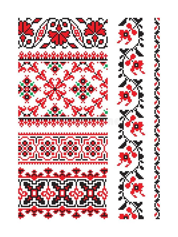 Ουκρανικό διανυσματικό μέρος 9 διακοσμήσεων απεικόνιση αποθεμάτων