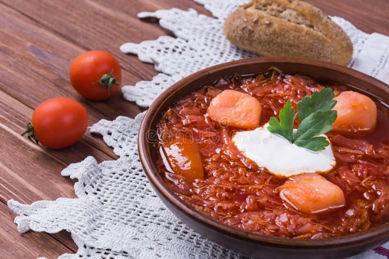 Ουκρανικό παραδοσιακό πιάτο Borsh στοκ εικόνα με δικαίωμα ελεύθερης χρήσης