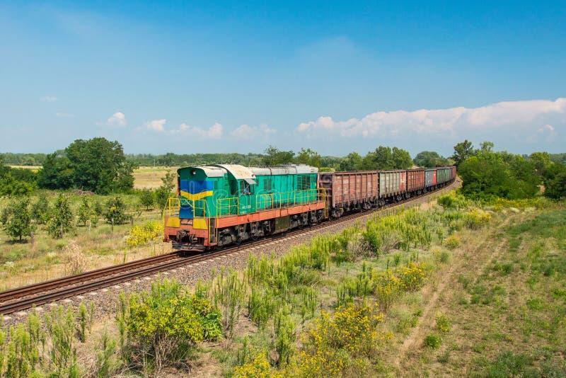 Ουκρανικό φορτηγό τρένο στοκ εικόνα με δικαίωμα ελεύθερης χρήσης