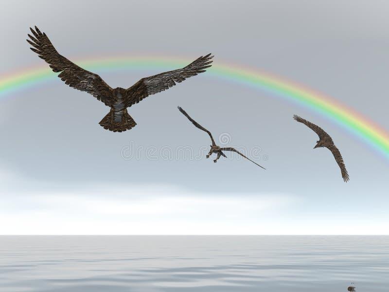 ουράνιο τόξο αετών διανυσματική απεικόνιση