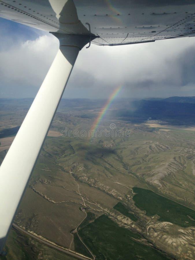 Ουράνιο τόξο από ένα αεροπλάνο στη Μοντάνα στοκ φωτογραφίες με δικαίωμα ελεύθερης χρήσης