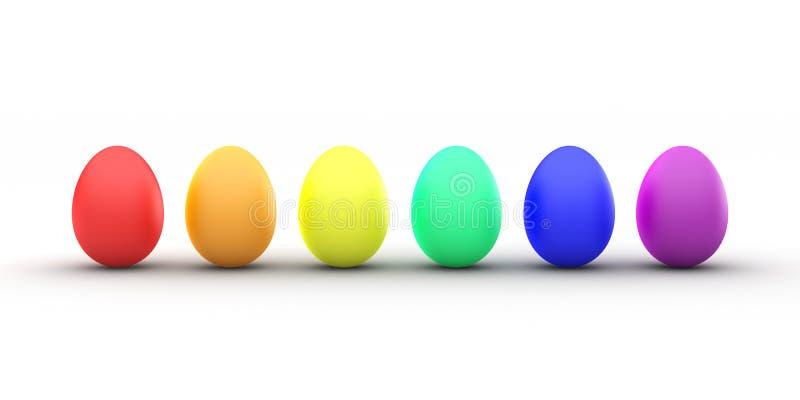 Ουράνιο τόξο αυγών Πάσχας στοκ εικόνα