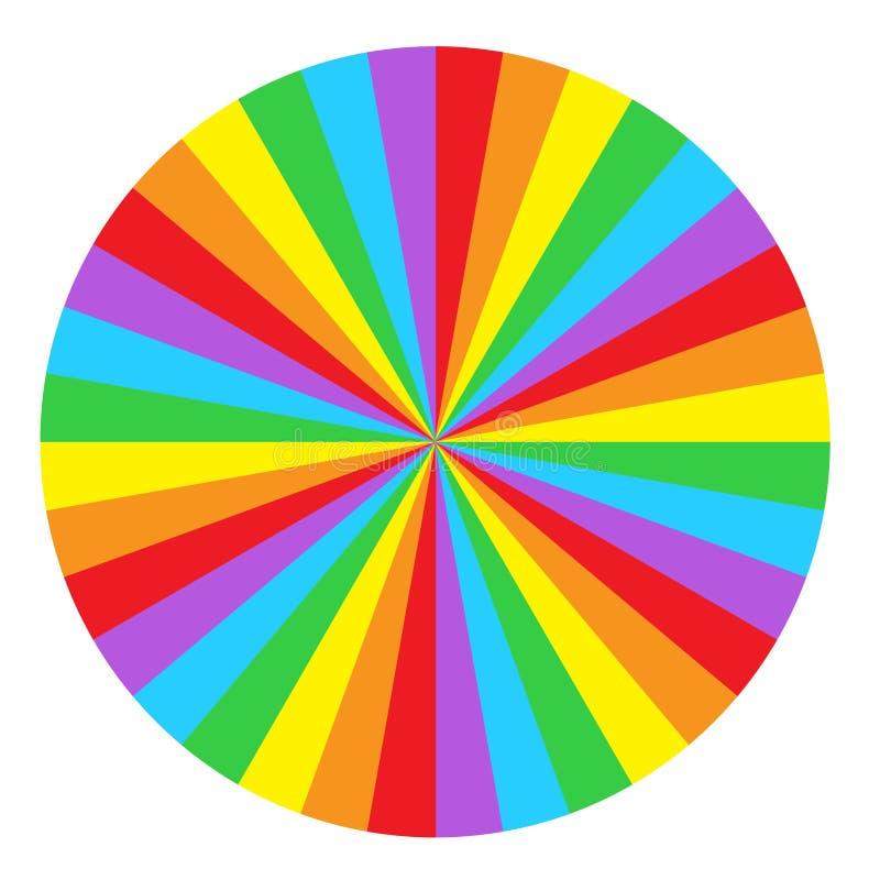 Ουράνιο τόξο γύρω από το σπειροειδές υπόβαθρο κύκλων Σημαία της κοινότητας ι LGBT απεικόνιση αποθεμάτων
