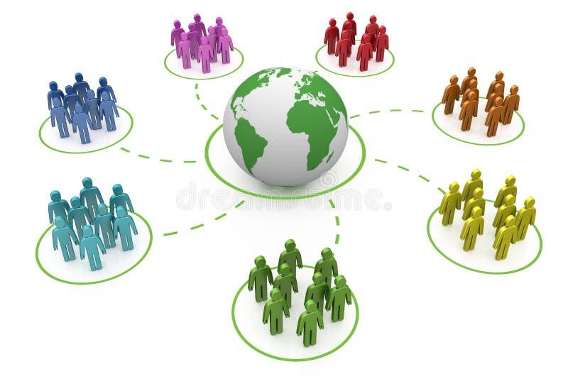 ουράνιο τόξο δικτύων κοιν&o ελεύθερη απεικόνιση δικαιώματος