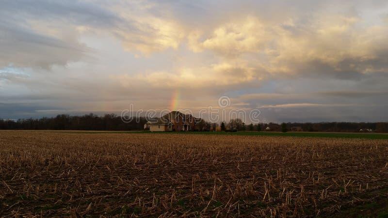 Ουράνιο τόξο Ιντιάνα ανατολής τυχερή στοκ φωτογραφίες