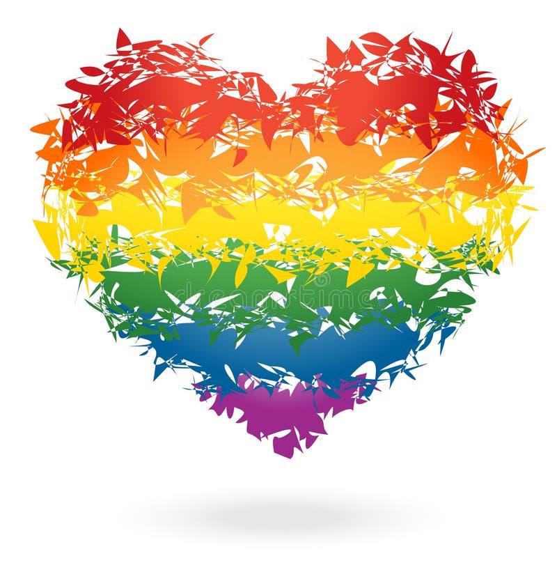 ουράνιο τόξο καρδιών ελεύθερη απεικόνιση δικαιώματος