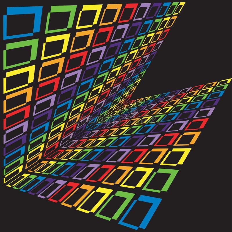 ουράνιο τόξο κύβων απεικόνιση αποθεμάτων