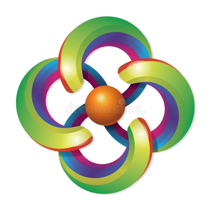 ουράνιο τόξο λογότυπων διανυσματική απεικόνιση