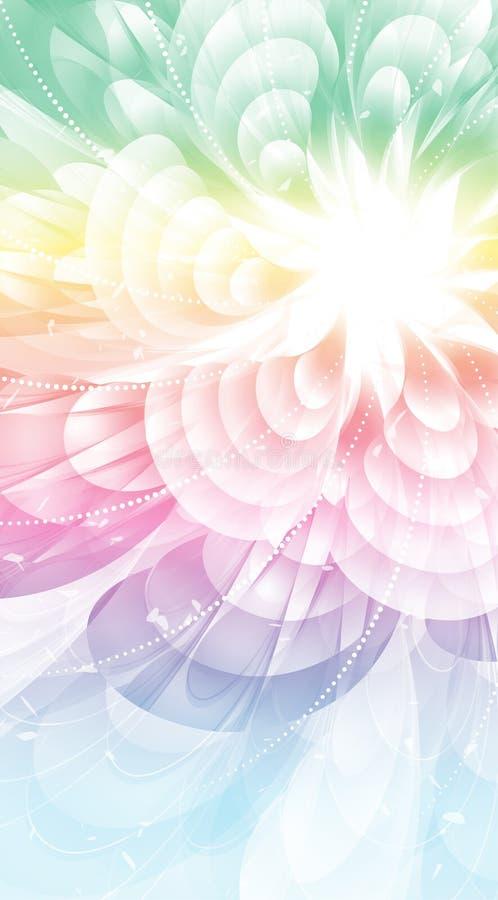 ουράνιο τόξο λουλουδι διανυσματική απεικόνιση