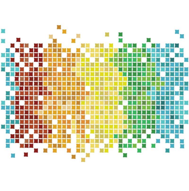 ουράνιο τόξο μωσαϊκών διανυσματική απεικόνιση