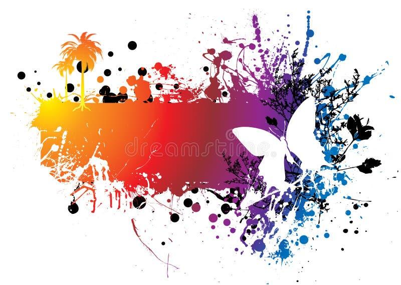 ουράνιο τόξο πεταλούδων απεικόνιση αποθεμάτων