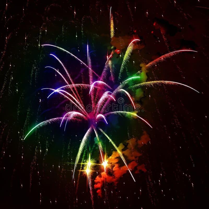 ουράνιο τόξο πυροτεχνημάτ& στοκ φωτογραφίες με δικαίωμα ελεύθερης χρήσης
