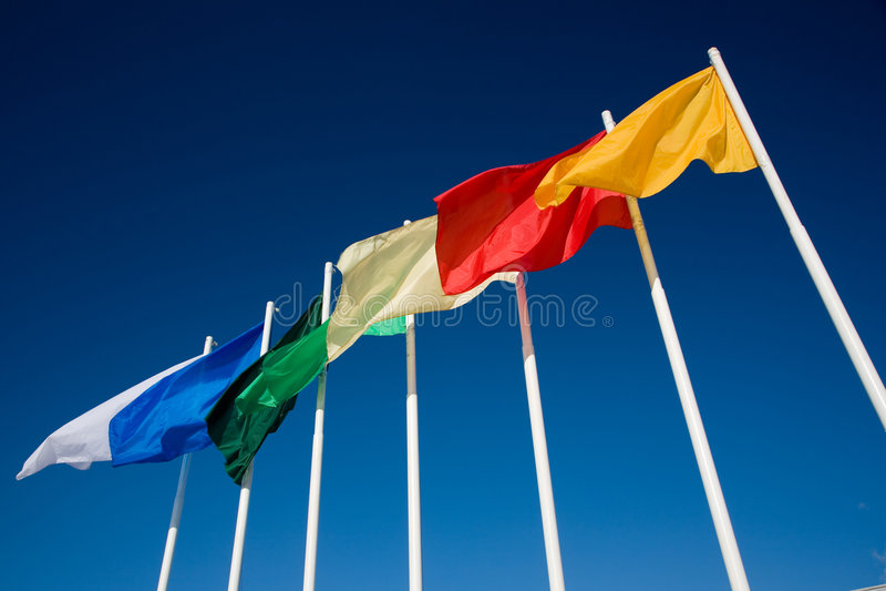 ουράνιο τόξο σημαιών στοκ εικόνα με δικαίωμα ελεύθερης χρήσης