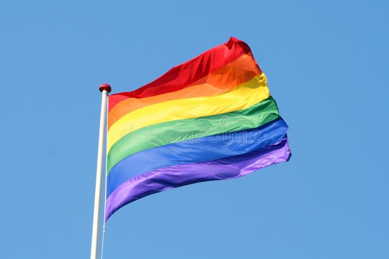 ουράνιο τόξο σημαιών στοκ φωτογραφία με δικαίωμα ελεύθερης χρήσης