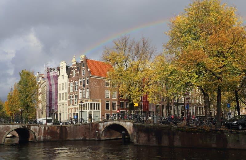 Ουράνιο τόξο στο Άμστερνταμ στοκ φωτογραφία με δικαίωμα ελεύθερης χρήσης