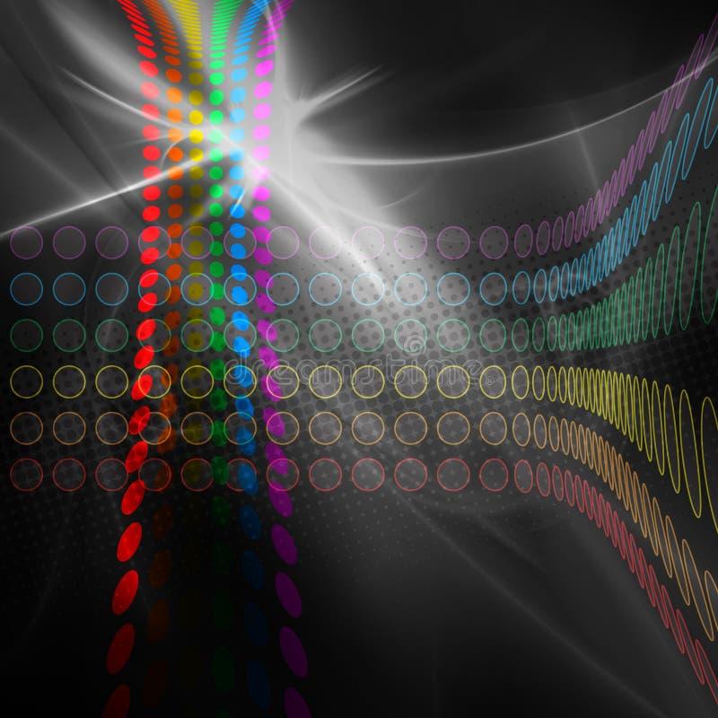 ουράνιο τόξο σχεδιαγράμματος κύκλων διανυσματική απεικόνιση