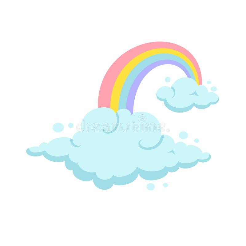 ουράνιο τόξο σύννεφων απεικόνιση αποθεμάτων