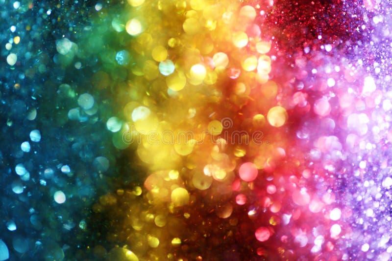 Ουράνιο τόξο των φω'των στοκ φωτογραφίες με δικαίωμα ελεύθερης χρήσης