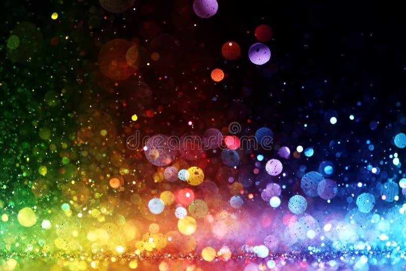 Ουράνιο τόξο των φω'των διανυσματική απεικόνιση