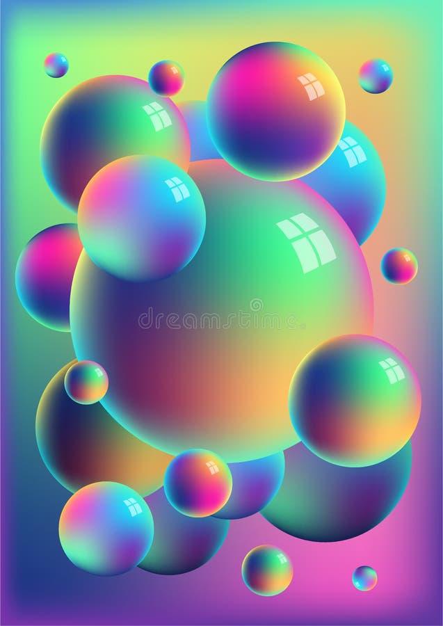 Ουράνιο τόξο υπόβαθρο σφαιρών τιτανίου στοκ εικόνες