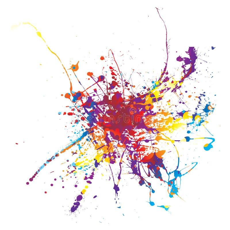 ουράνιο τόξο χρωμάτων splat απεικόνιση αποθεμάτων