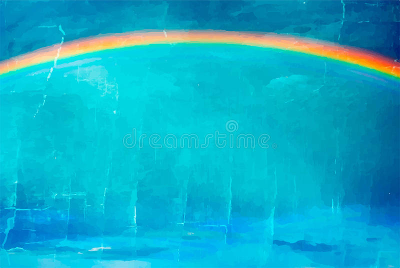 Ουράνιο τόξο διανυσματική απεικόνιση