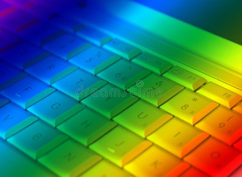 ουράνιο τόξο lap-top απεικόνιση αποθεμάτων