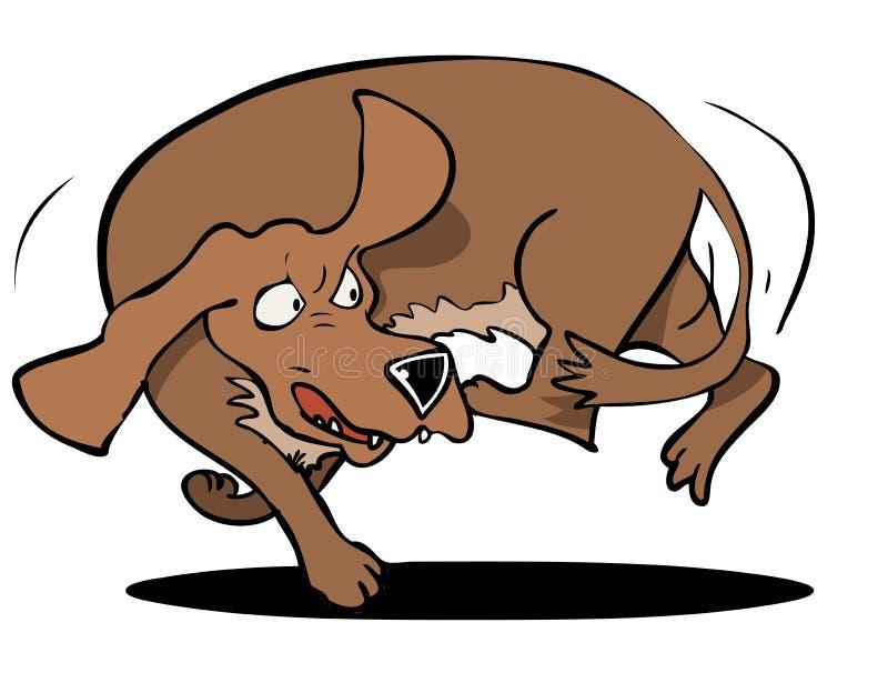 Ουρά αυλακώματος σκυλιών ελεύθερη απεικόνιση δικαιώματος