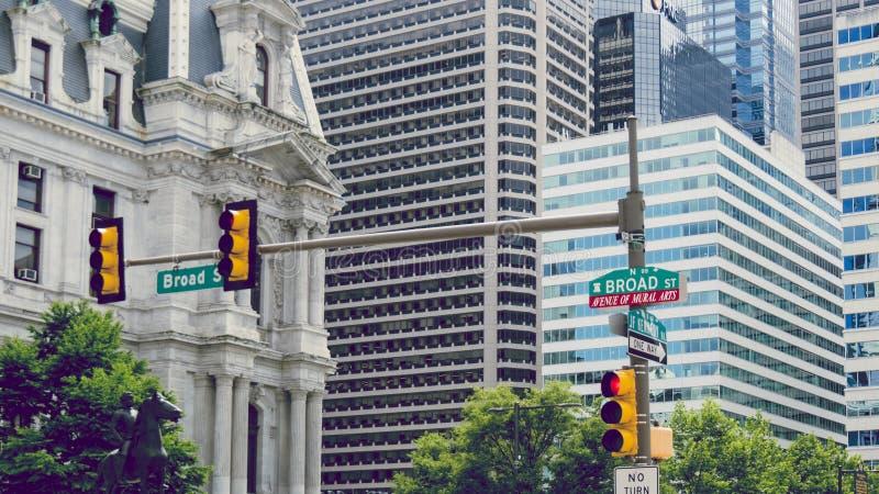 Ουρανοξύστες στην κεντρική πόλη, Φιλαδέλφεια, Πενσυλβανία στοκ φωτογραφίες με δικαίωμα ελεύθερης χρήσης