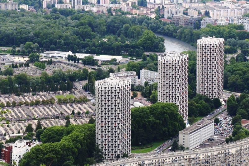 Ουρανοξύστες στην πόλη της Γκρενόμπλ, Γαλλία στοκ φωτογραφία με δικαίωμα ελεύθερης χρήσης