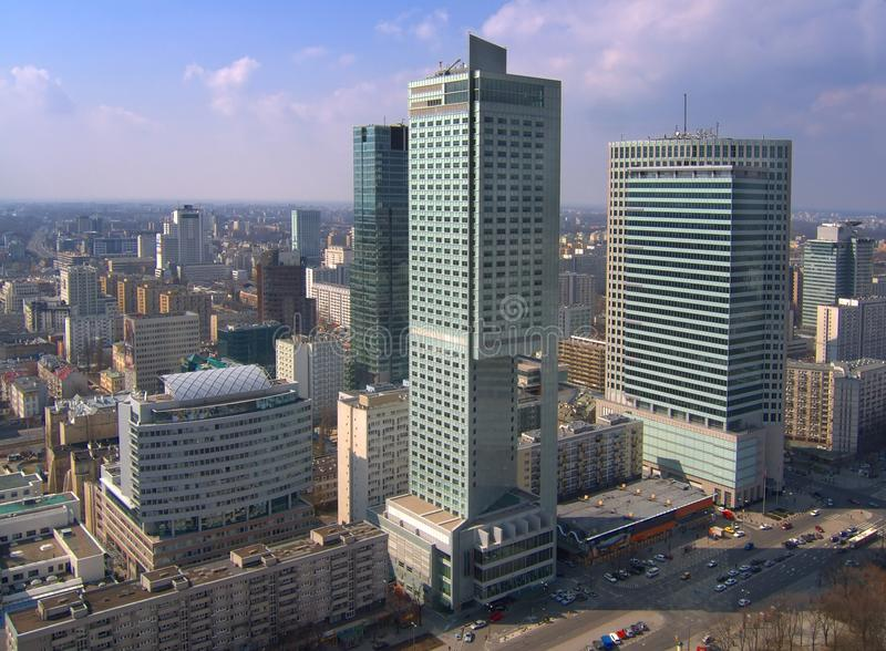 Ουρανοξύστες στη Βαρσοβία στοκ εικόνα με δικαίωμα ελεύθερης χρήσης