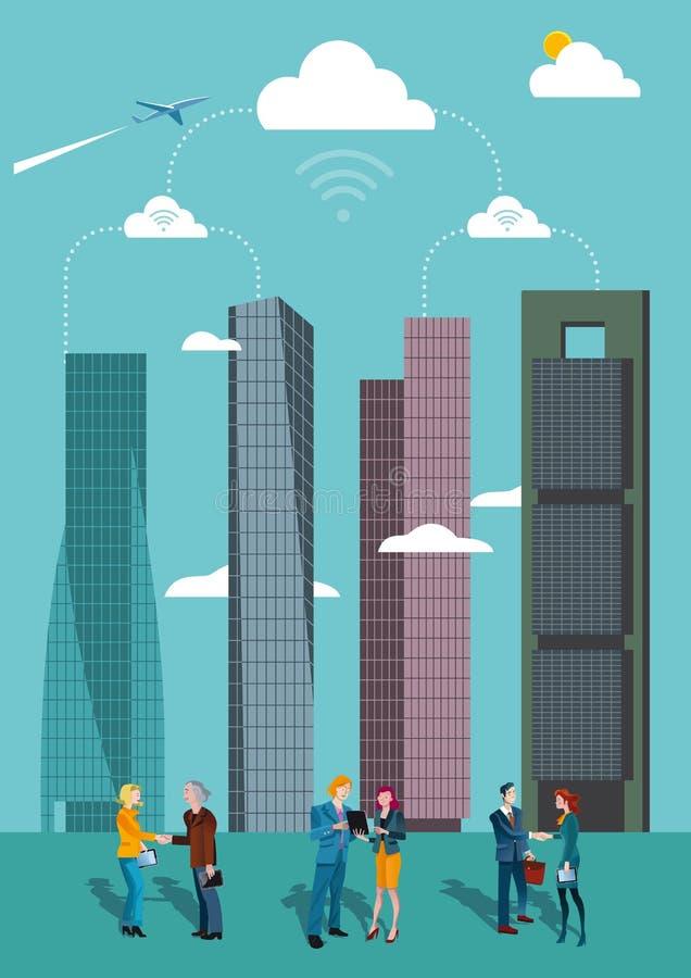 Ουρανοξύστες στη Μαδρίτη ελεύθερη απεικόνιση δικαιώματος