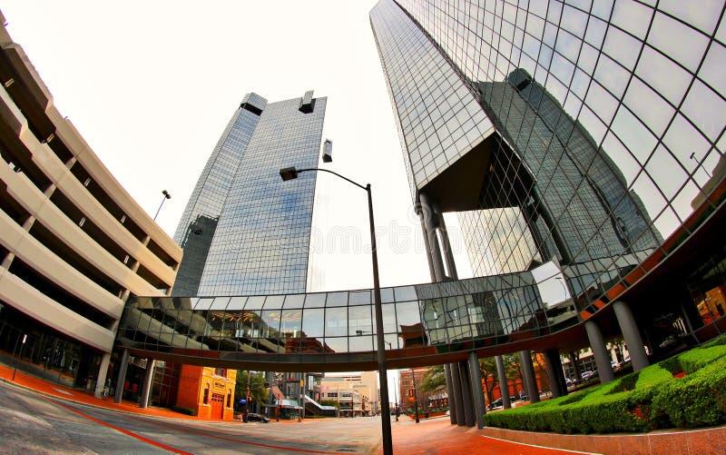 Ουρανοξύστες στο στο κέντρο της πόλης Fort Worth Τέξας στοκ εικόνα με δικαίωμα ελεύθερης χρήσης