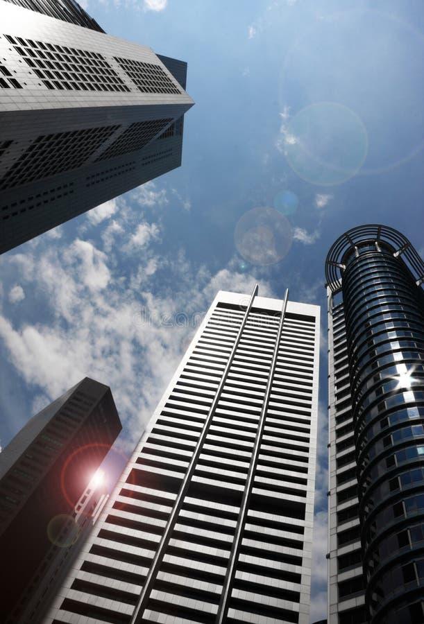 Ουρανοξύστες της Σαγκάη πανοραμικοί στοκ φωτογραφίες με δικαίωμα ελεύθερης χρήσης