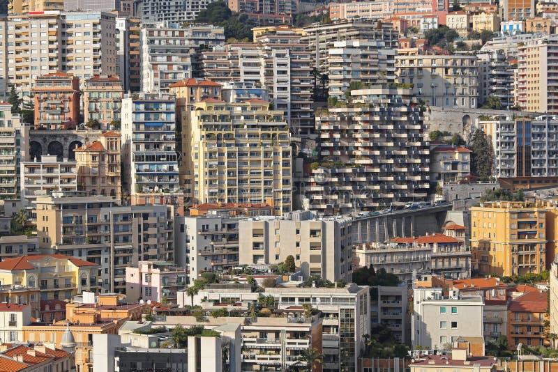 Ουρανοξύστες του Μονακό στοκ εικόνα