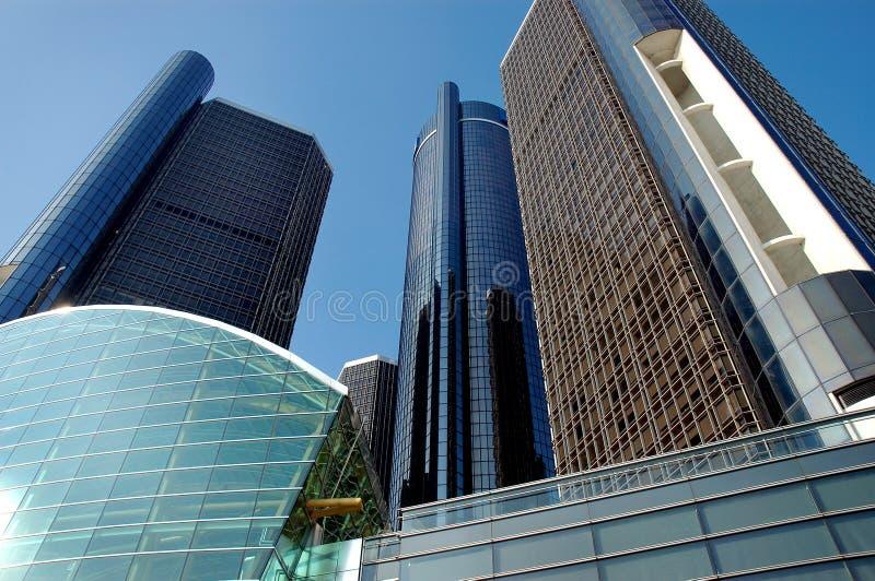 ουρανοξύστες του Ντητρόιτ στοκ φωτογραφίες