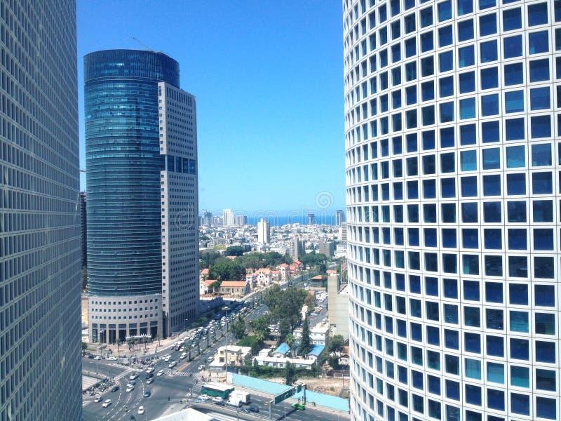 Ουρανοξύστες Azrieli, Τελ Αβίβ, Ισραήλ στοκ εικόνες