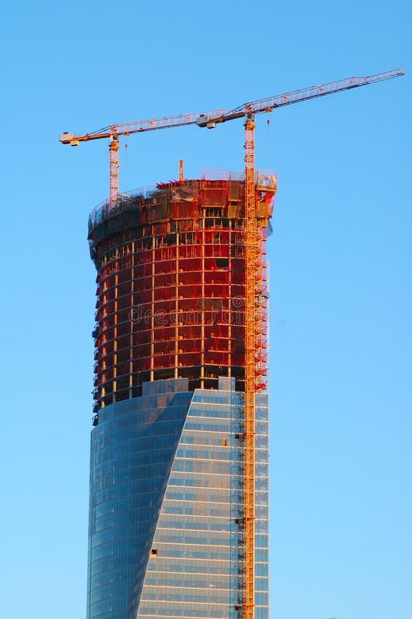 ουρανοξύστης κατασκε&upsilo στοκ φωτογραφία