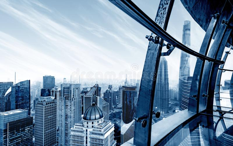 Ουρανοξύστης στη Σαγκάη, Κίνα στοκ εικόνες με δικαίωμα ελεύθερης χρήσης