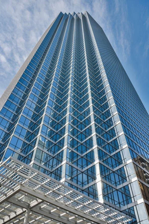 Ουρανοξύστης Plaza Τράπεζας της Αμερικής στο Ντάλλας, TX στοκ φωτογραφία με δικαίωμα ελεύθερης χρήσης