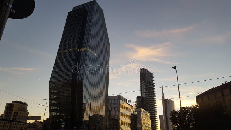 Ουρανοξύστης Porta Garibaldi - Μιλάνο στοκ φωτογραφία