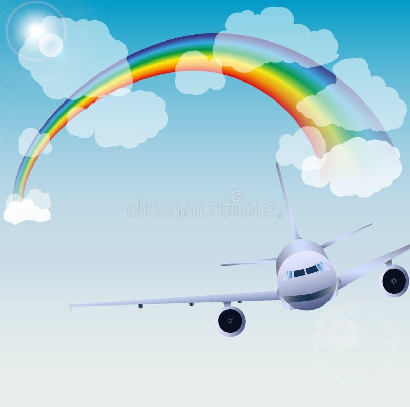 ουρανός αεροπλάνων στοκ εικόνες με δικαίωμα ελεύθερης χρήσης