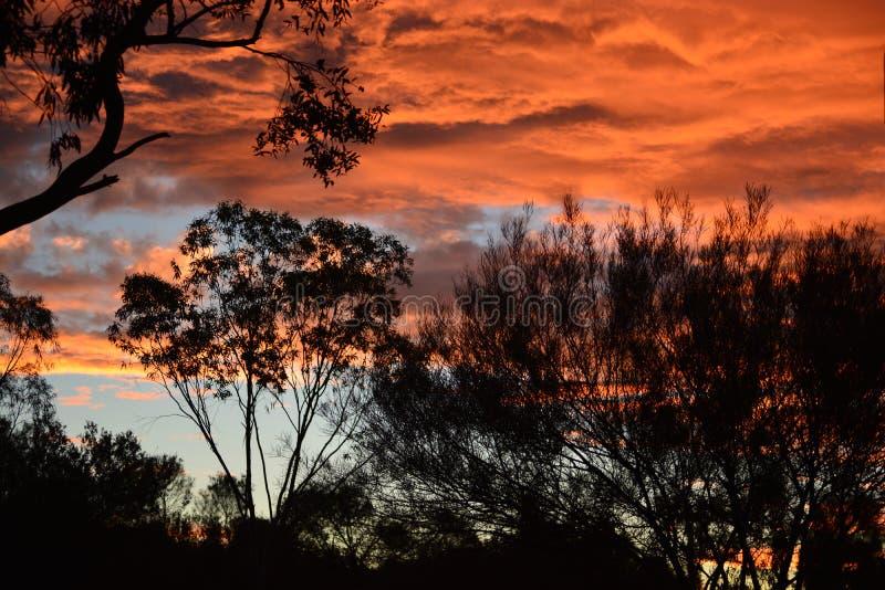 Ουρανός ηλιοβασιλέματος στην Αυστραλία στοκ φωτογραφία με δικαίωμα ελεύθερης χρήσης