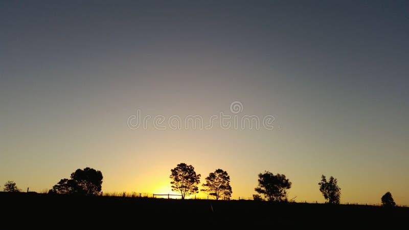 Ουρανός ηλιοβασιλέματος στην Αυστραλία στοκ εικόνες με δικαίωμα ελεύθερης χρήσης