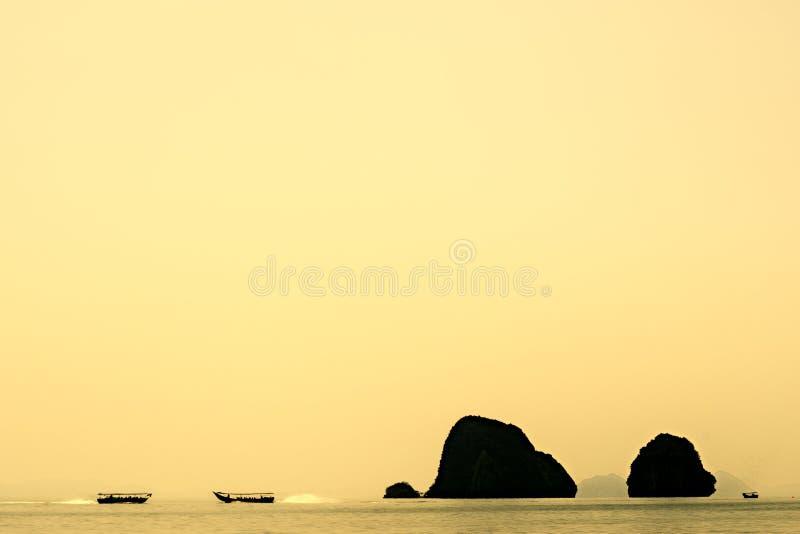 Ουρανός θάλασσας της Ταϊλάνδης Phangnga στοκ εικόνα