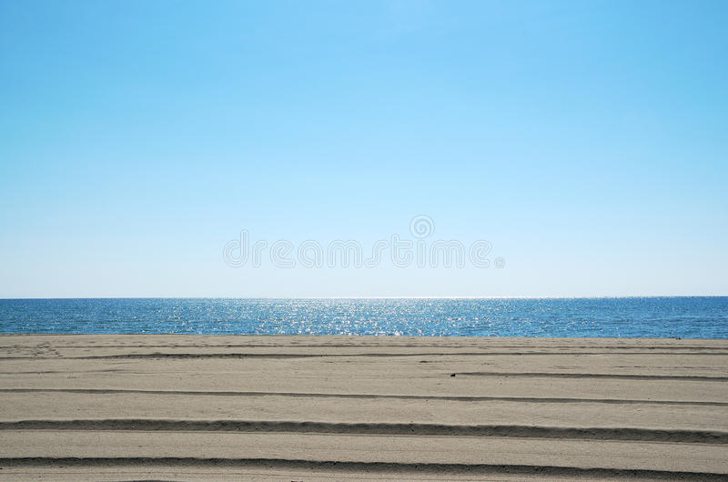 Ουρανός, θάλασσα και άμμος στοκ εικόνες με δικαίωμα ελεύθερης χρήσης